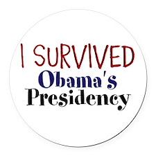 I Survived Obamas Presidency Round Car Magnet
