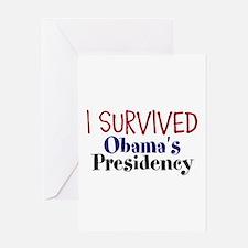 I Survived Obamas Presidency Greeting Card