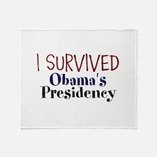I Survived Obamas Presidency Throw Blanket