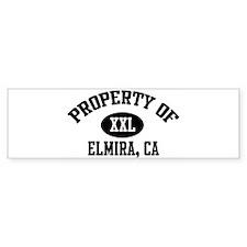 Property of ELMIRA Bumper Bumper Sticker