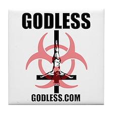 Funny Godless Tile Coaster