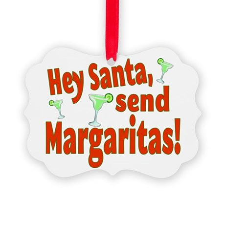 Send Margaritas Picture Ornament