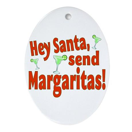 Send Margaritas Ornament (Oval)