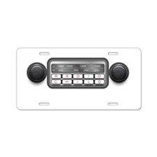 Radio Child Aluminum License Plate