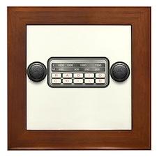 Radio Child Framed Tile