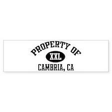Property of CAMBRIA Bumper Bumper Sticker