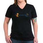 Spay and Neuter is Cuter Color Women's V-Neck Dark