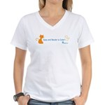 Spay and Neuter is Cuter Color Women's V-Neck T-Sh