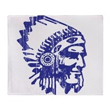 Blue Indian Vintage Throw Blanket