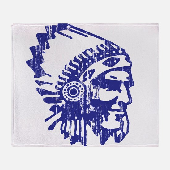 Blue Indian Vintage Throw Blanket