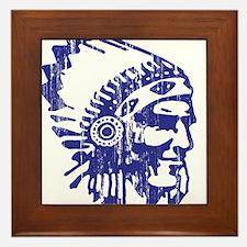 Blue Indian Vintage Framed Tile