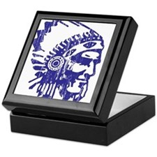 Blue Indian Vintage Keepsake Box