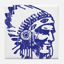 Blue Indian Vintage Tile Coaster