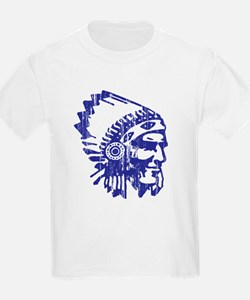 Blue Indian Vintage T-Shirt