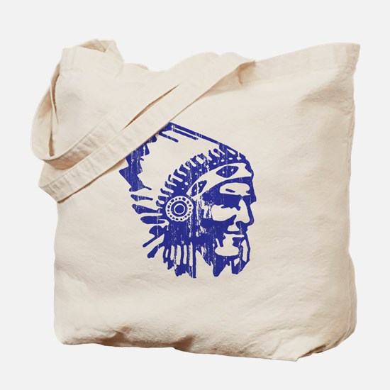 Blue Indian Vintage Tote Bag