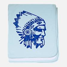 Blue Indian Vintage baby blanket
