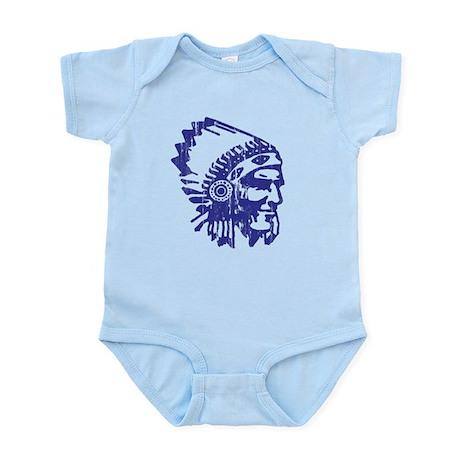 Blue Indian Vintage Infant Bodysuit