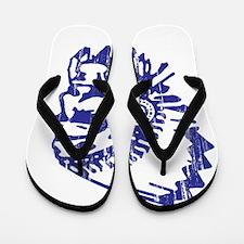 Blue Indian Vintage Flip Flops