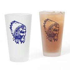 Blue Indian Vintage Drinking Glass