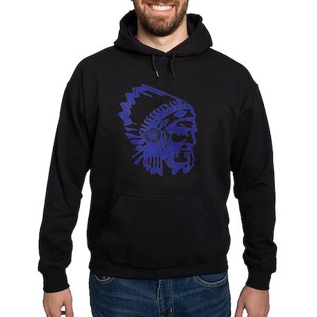 Blue Indian Vintage Hoodie (dark)