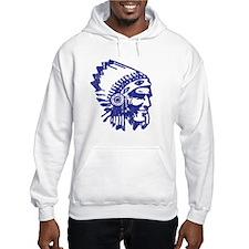 Blue Indian Vintage Hoodie
