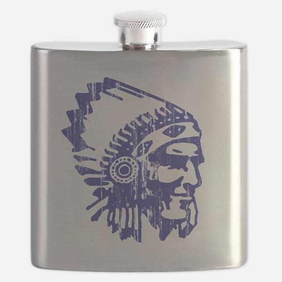 Blue Indian Vintage Flask