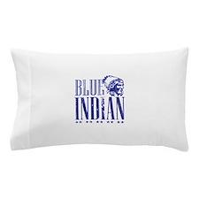Blue Indian Head Dress Vintage Pillow Case
