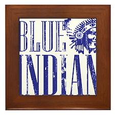 Blue Indian Head Dress Vintage Framed Tile