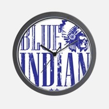 Blue Indian Head Dress Vintage Wall Clock