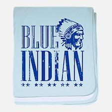 Blue Indian Head Dress Vintage baby blanket