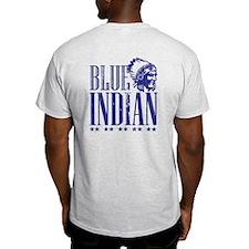 Blue Indian Head Dress Vintage T-Shirt