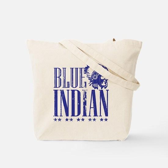 Blue Indian Head Dress Vintage Tote Bag