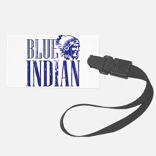 Blue Indian Head Dress Vintage Luggage Tag