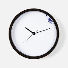 Blue Indian Head Dress Vintage Wall Clock
