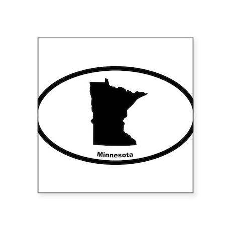 Minnesota State Outline Oval Sticker