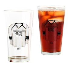Hockey Jersey Drinking Glass