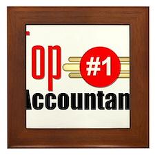 Top Accountant Framed Tile