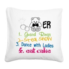 Guard Rings Square Canvas Pillow