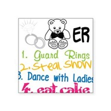 "Guard Rings Square Sticker 3"" x 3"""