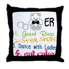 Guard Rings Throw Pillow