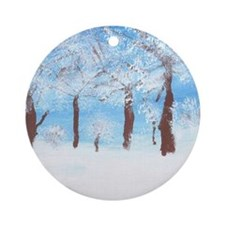 Winter Trees Chirstmas Ornament