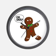 Oh, Snap! Funny Gingerbread Christmas Gift Wall Cl