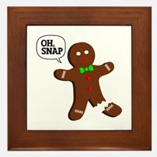 Oh, Snap! Funny Gingerbread Christmas Gift Framed