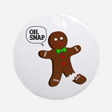 Oh, Snap! Funny Gingerbread Christmas Gift Ornamen