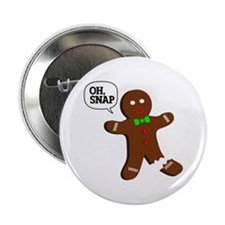 "Oh, Snap! Funny Gingerbread Christmas Gift 2.25"" B"