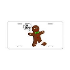 Oh, Snap! Funny Gingerbread Christmas Gift Aluminu