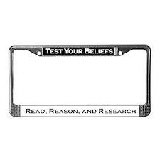 Cool Beliefs License Plate Frame