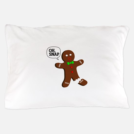 Oh, Snap! Funny Gingerbread Christmas Gift Pillow
