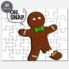 Oh, Snap! Funny Gingerbread Christmas Gift Puzzle