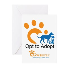 Opt to Adopt color Greeting Cards (Pk of 10)